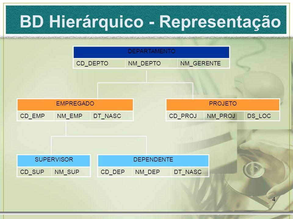 BD Hierárquico - Representação