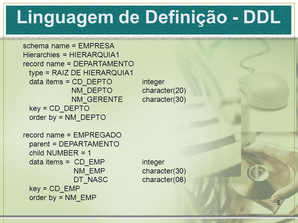 Linguagem de Definição - DDL
