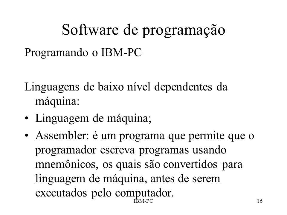 Software de programação