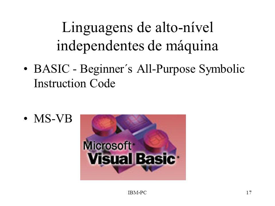 Linguagens de alto-nível independentes de máquina