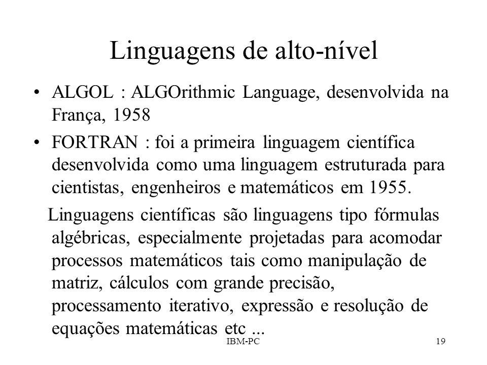 Linguagens de alto-nível