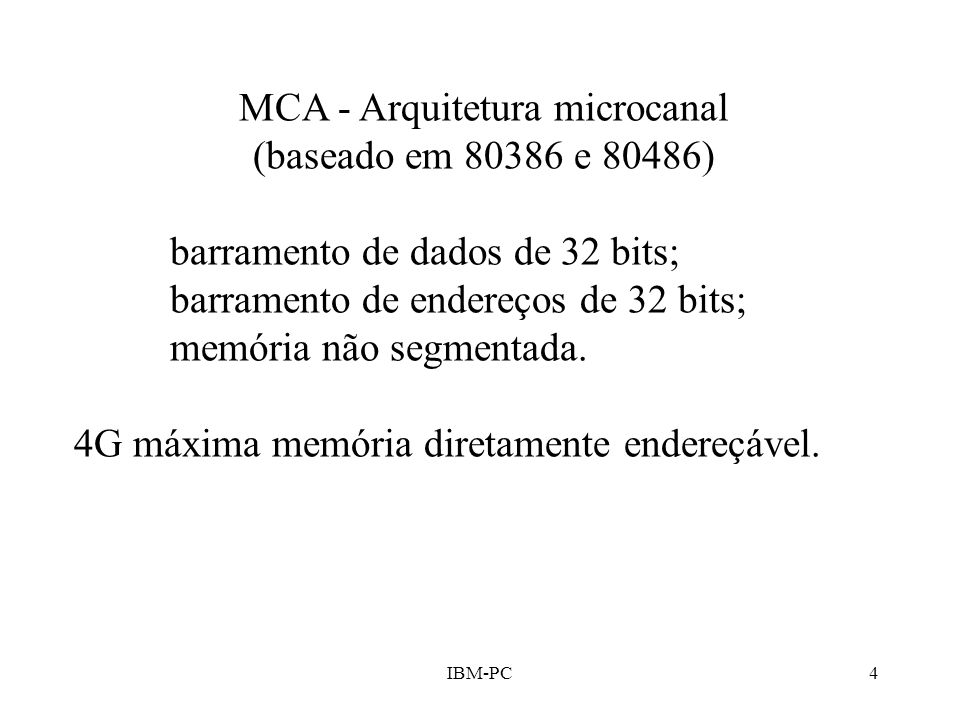 MCA - Arquitetura microcanal
