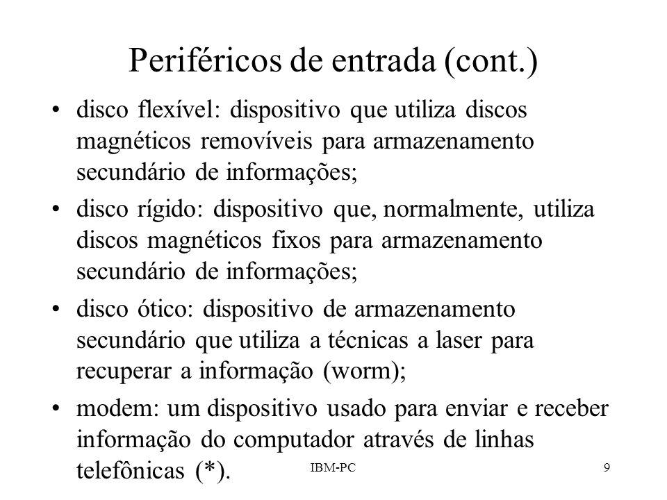 Periféricos de entrada (cont.)