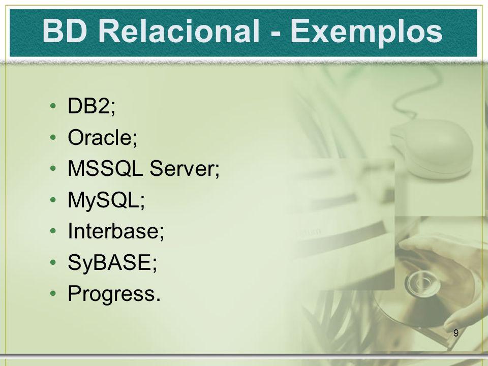 BD Relacional - Exemplos
