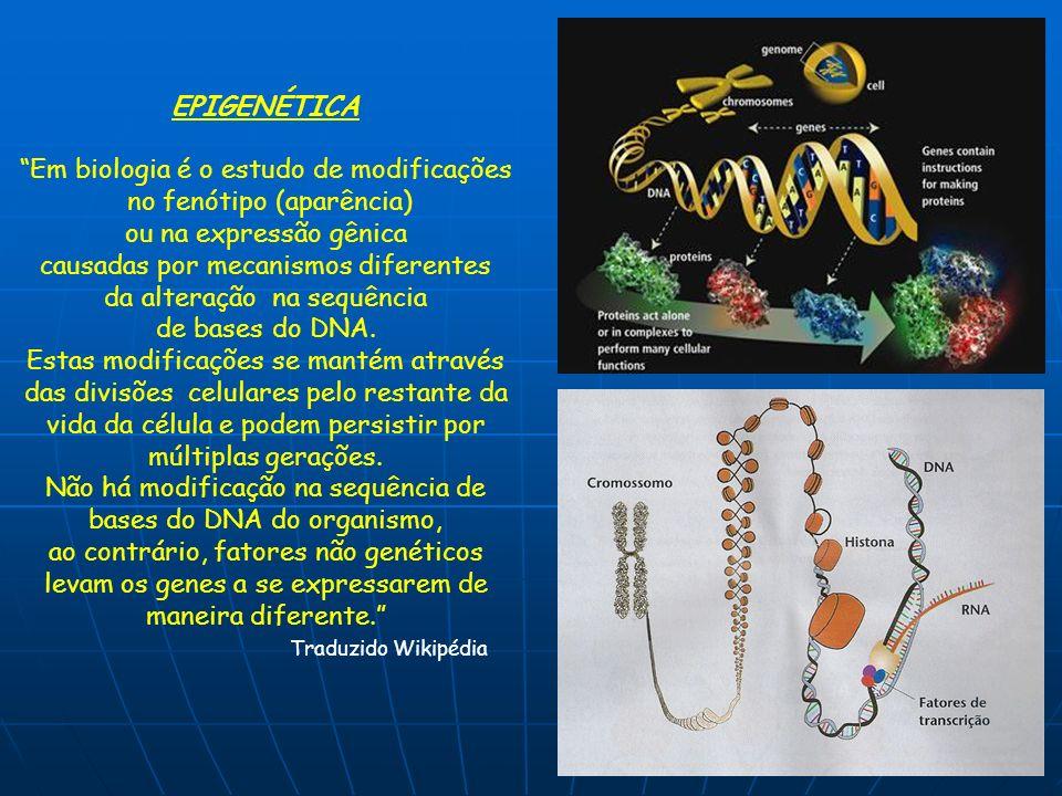 Em biologia é o estudo de modificações no fenótipo (aparência)