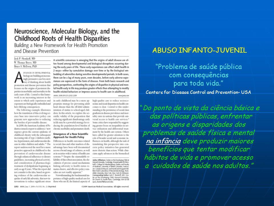 ABUSO INFANTO-JUVENIL Problema de saúde pública com consequências