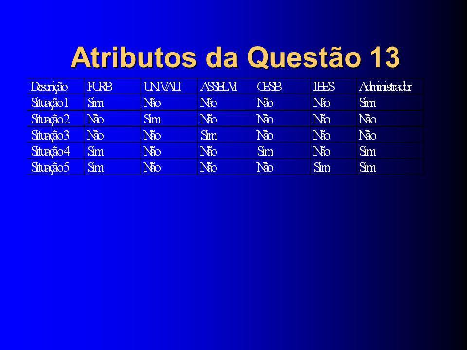 Atributos da Questão 13