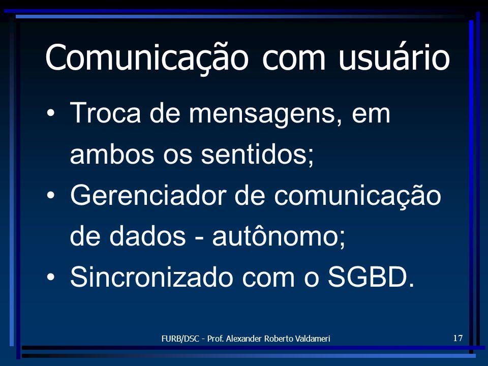 Comunicação com usuário