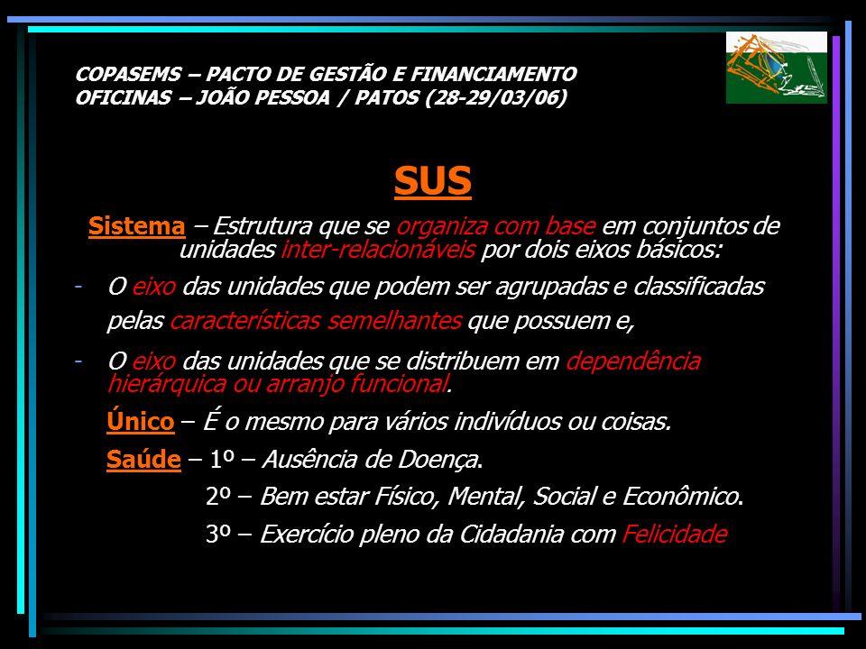 COPASEMS – PACTO DE GESTÃO E FINANCIAMENTO OFICINAS – JOÃO PESSOA / PATOS (28-29/03/06)