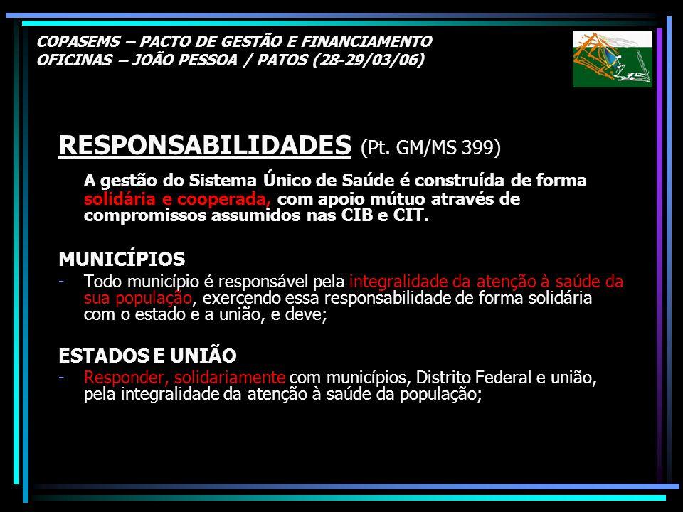 RESPONSABILIDADES (Pt. GM/MS 399)
