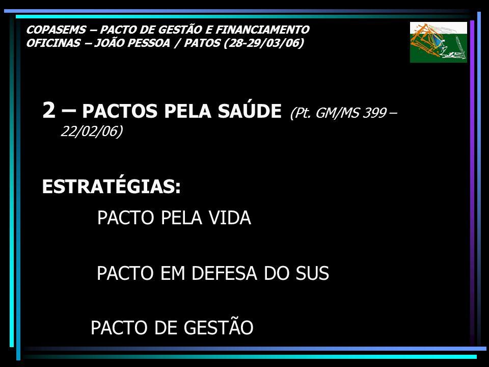 2 – PACTOS PELA SAÚDE (Pt. GM/MS 399 – 22/02/06)
