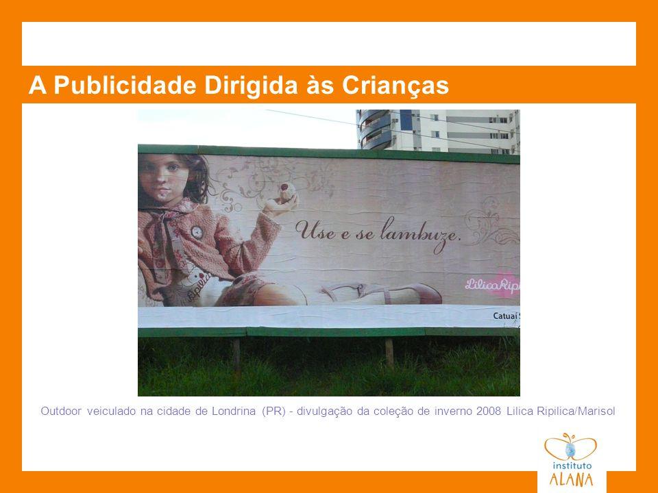 A Publicidade Dirigida às Crianças