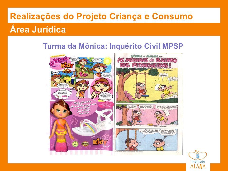 Realizações do Projeto Criança e Consumo