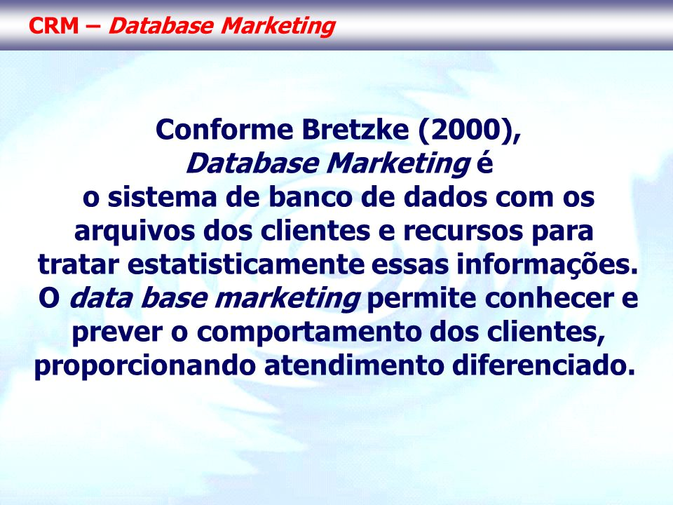 CRM – Database Marketing