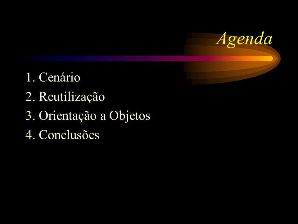 Agenda 1. Cenário 2. Reutilização 3. Orientação a Objetos