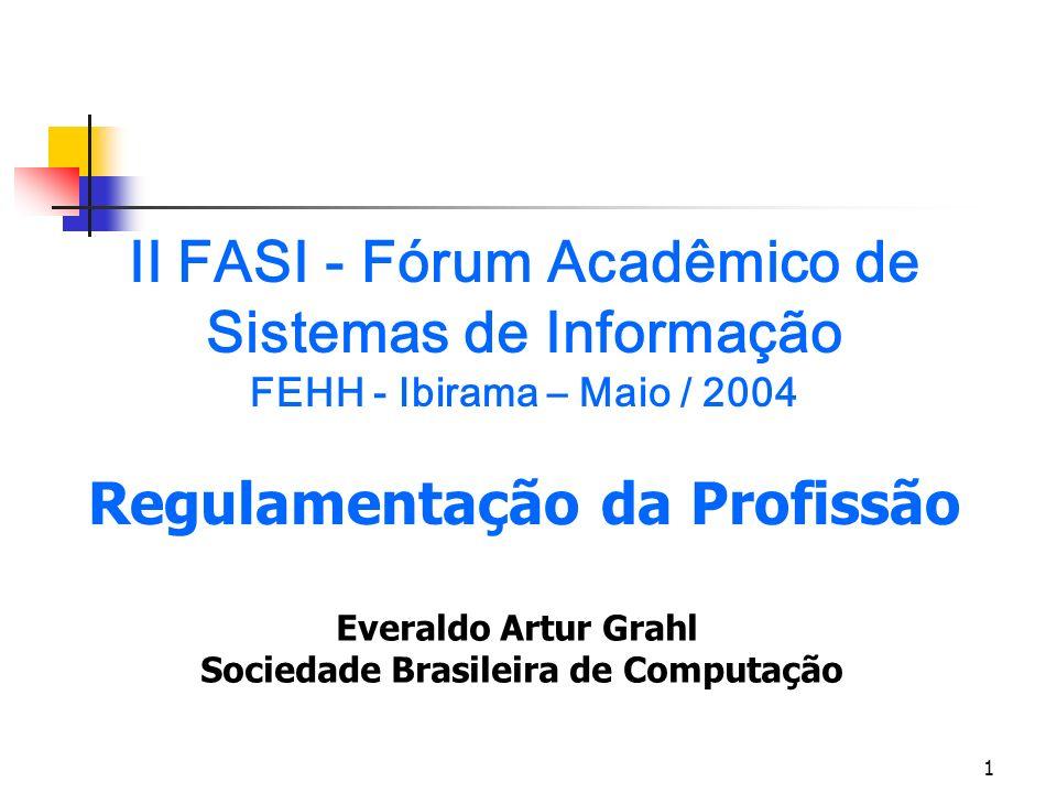 II FASI - Fórum Acadêmico de Sistemas de Informação