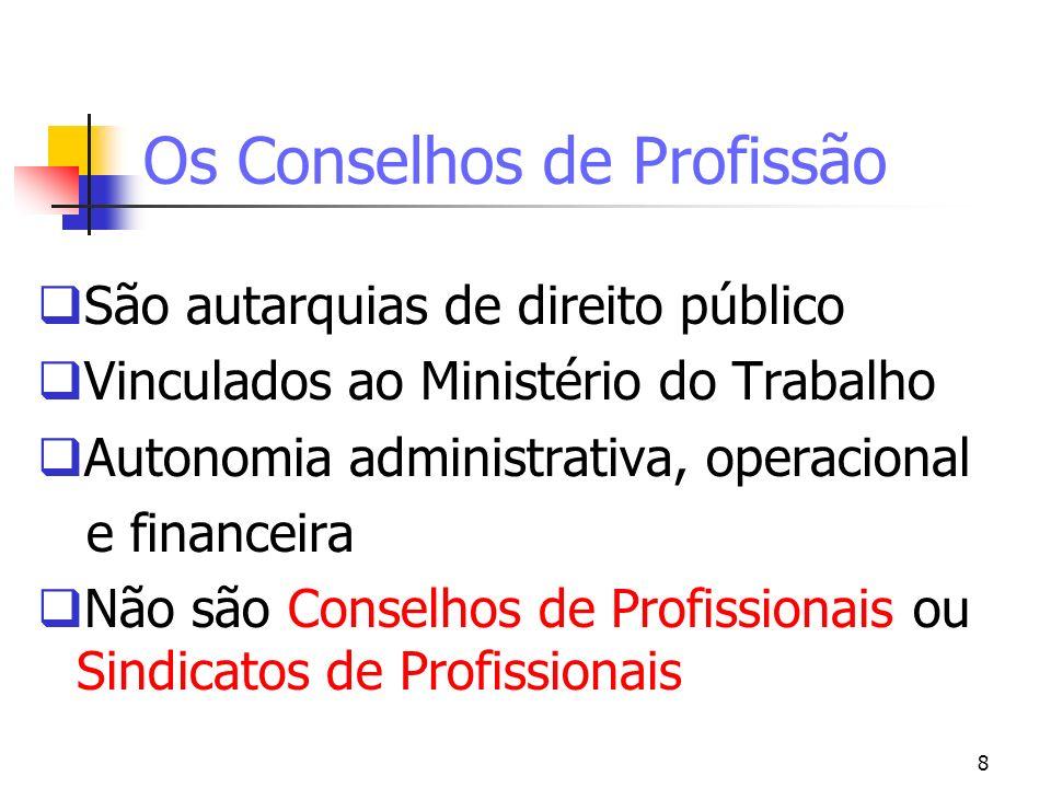 Os Conselhos de Profissão