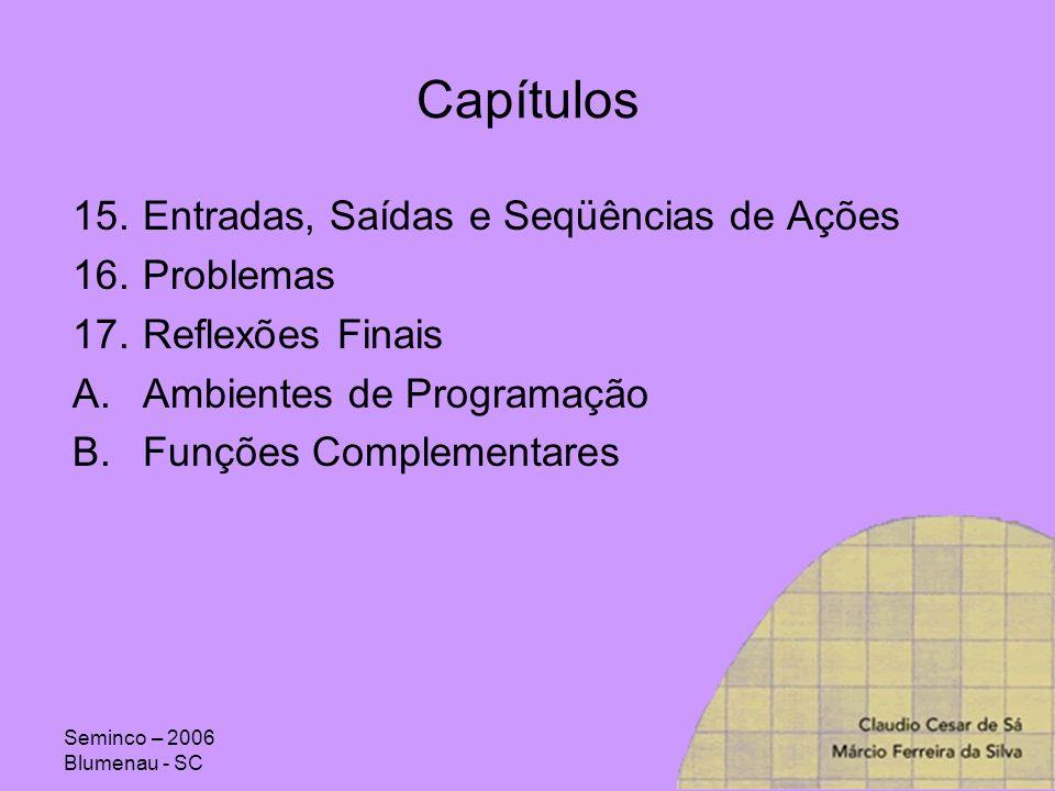 Capítulos Entradas, Saídas e Seqüências de Ações Problemas