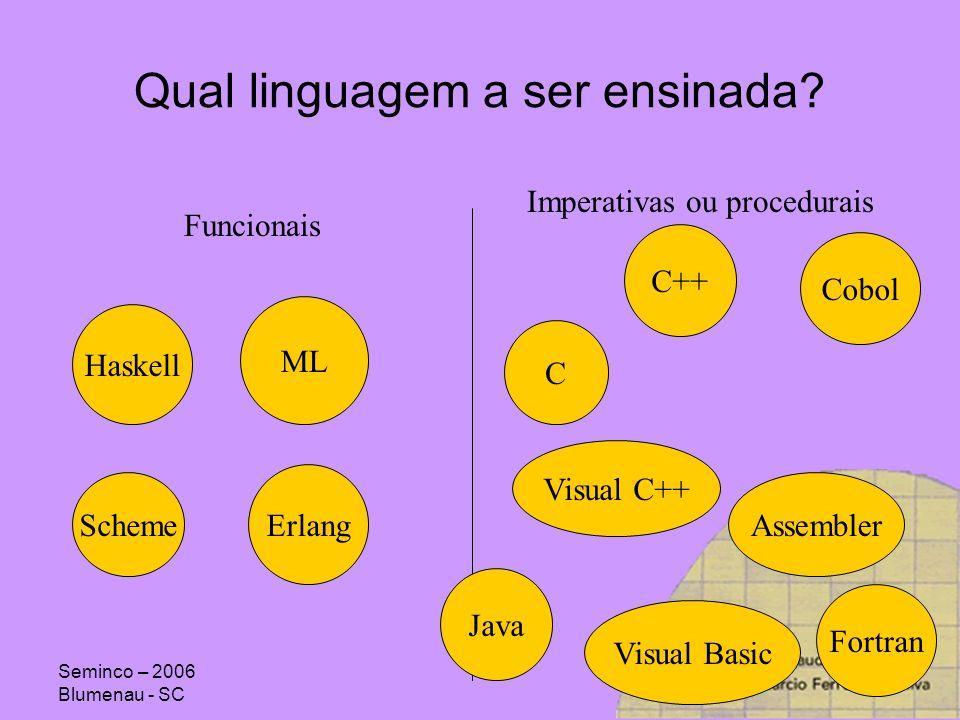 Qual linguagem a ser ensinada