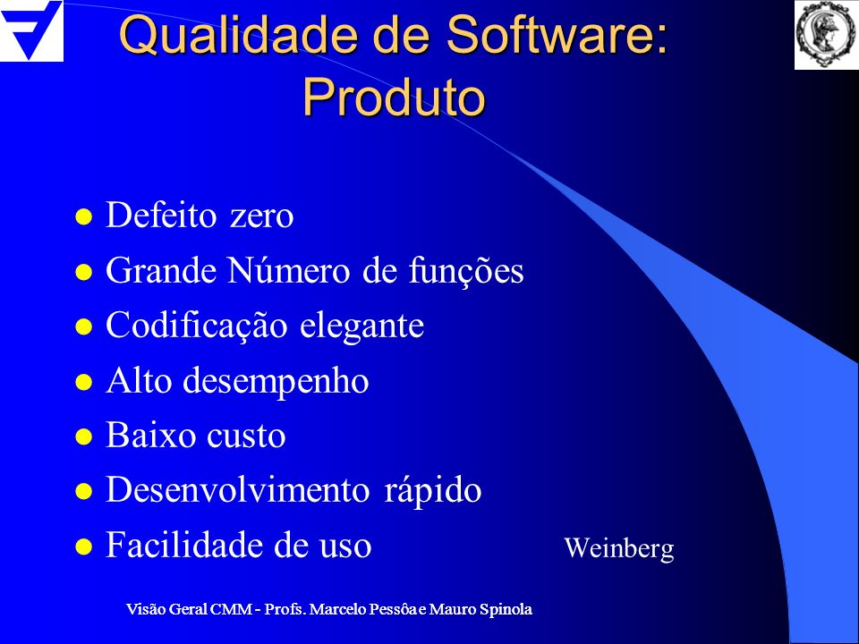 Qualidade de Software: Produto