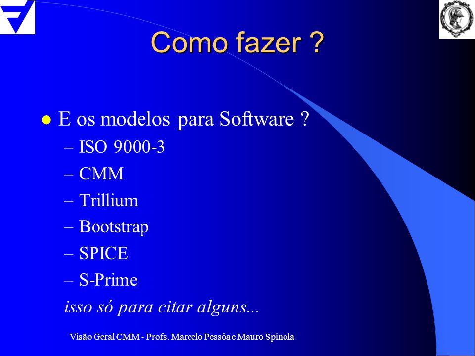 Como fazer E os modelos para Software ISO 9000-3 CMM Trillium