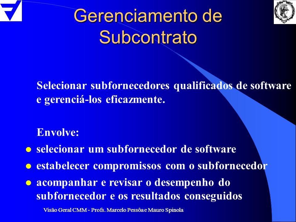 Gerenciamento de Subcontrato