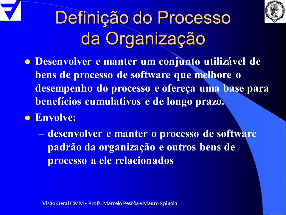 Definição do Processo da Organização