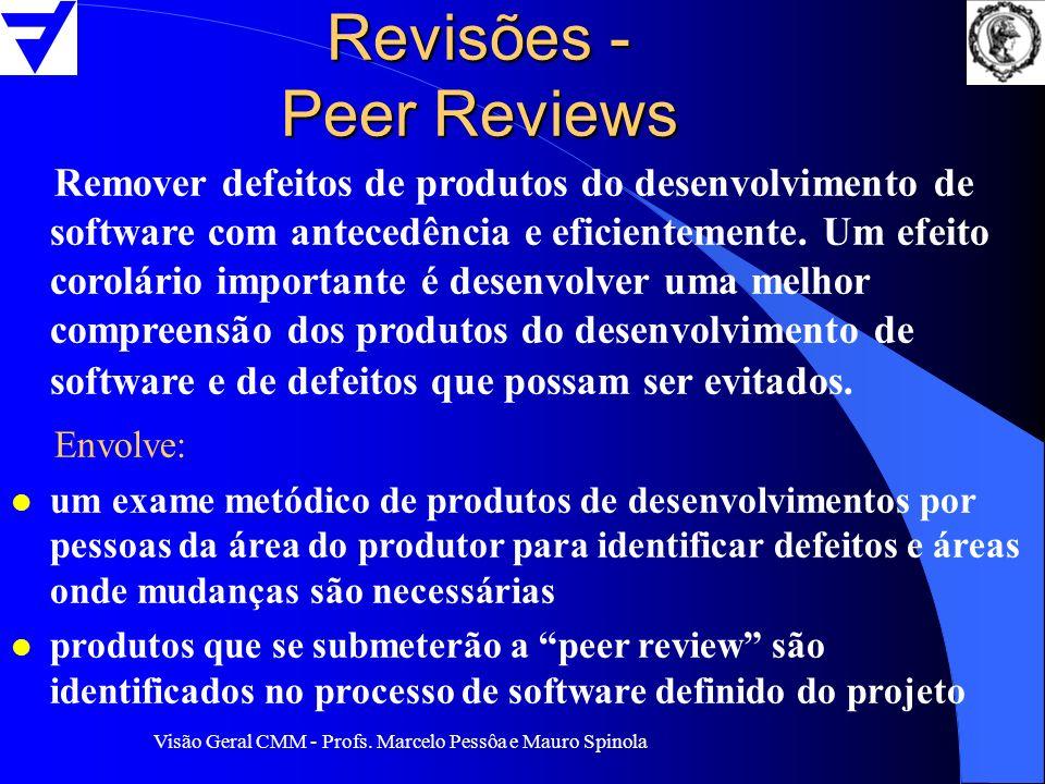 Revisões - Peer Reviews