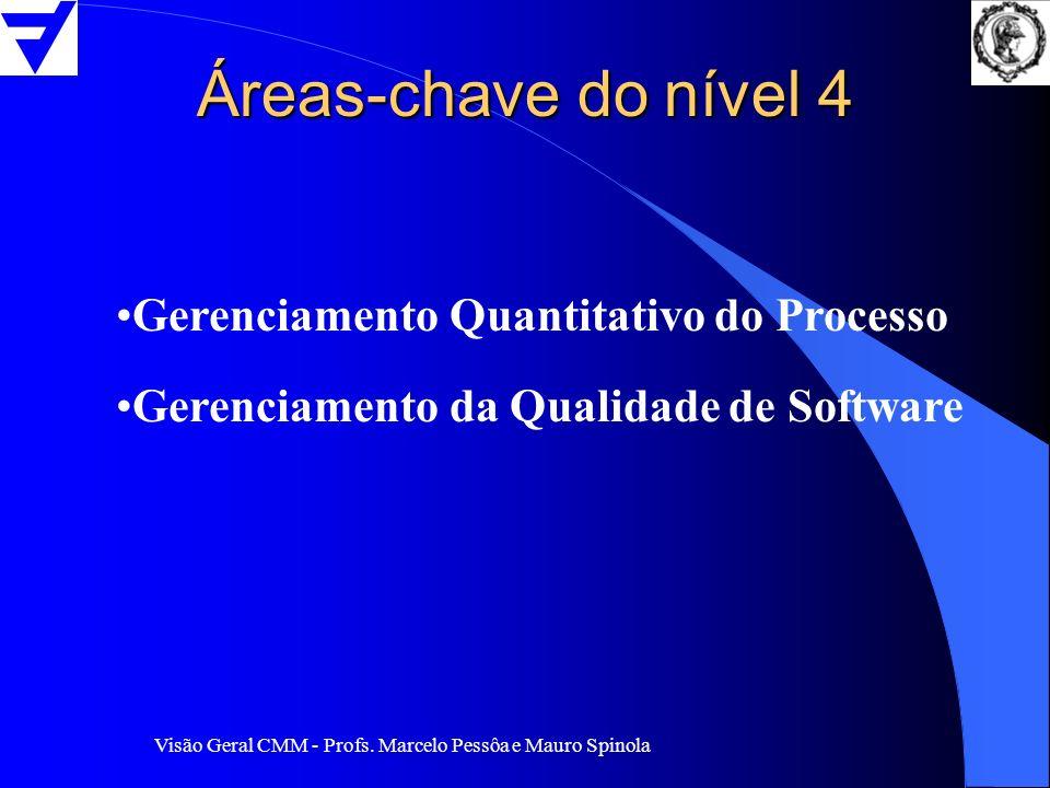 Áreas-chave do nível 4 Gerenciamento Quantitativo do Processo
