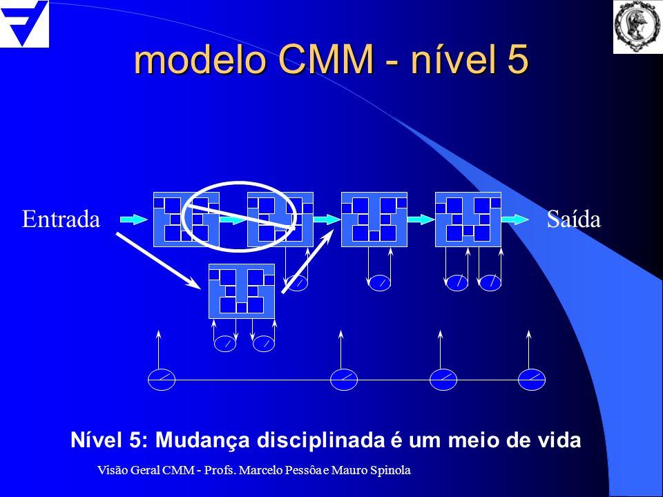 modelo CMM - nível 5 Entrada Saída