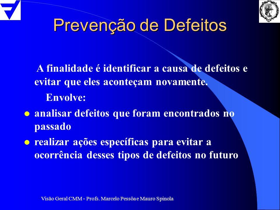 Prevenção de Defeitos A finalidade é identificar a causa de defeitos e evitar que eles aconteçam novamente.