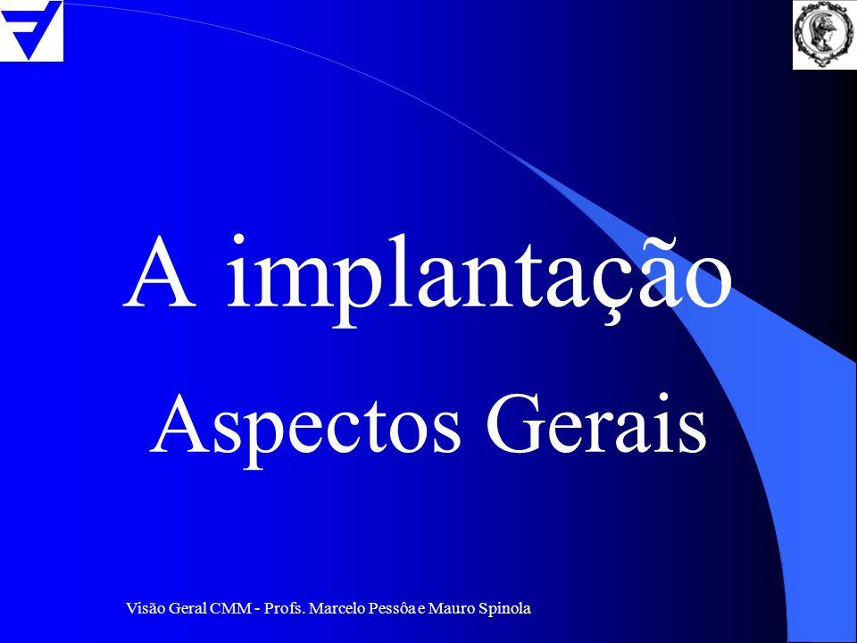 A implantação Aspectos Gerais