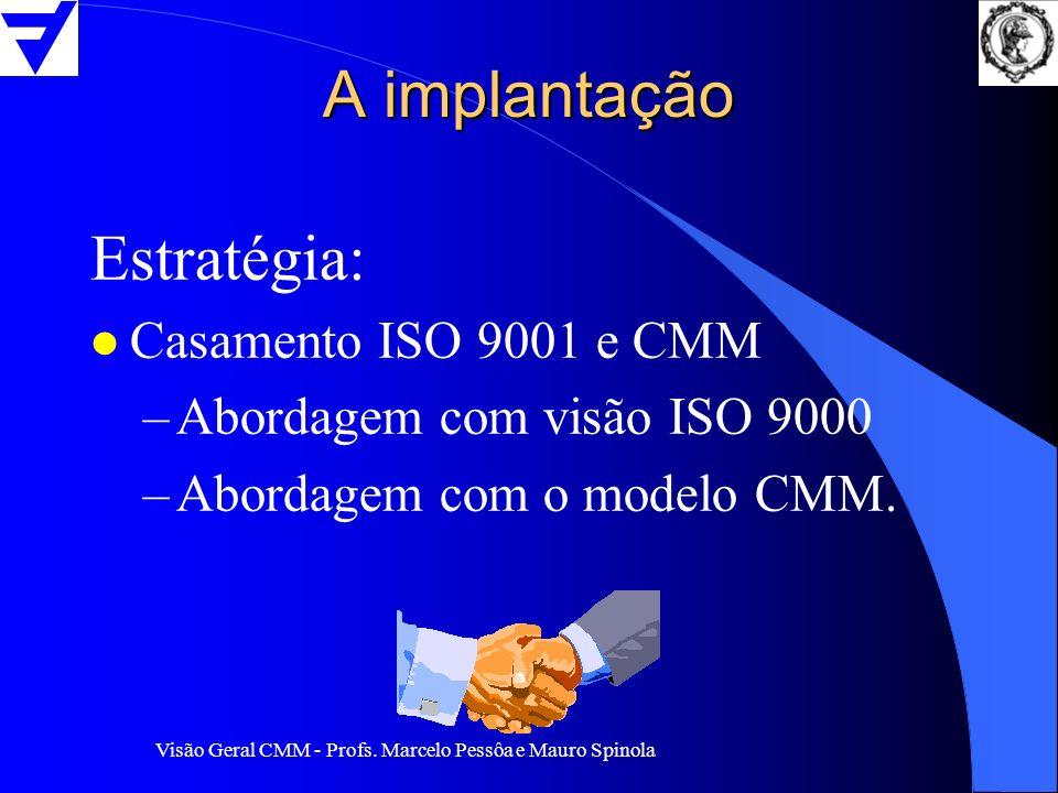 A implantação Estratégia: Casamento ISO 9001 e CMM