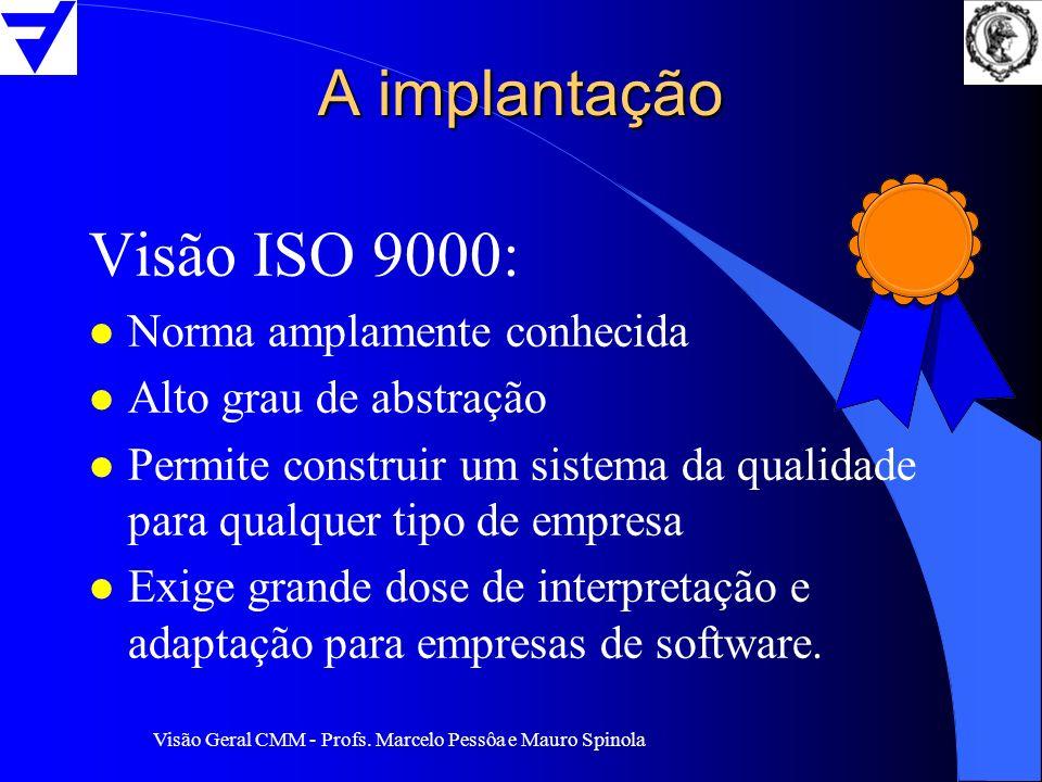 A implantação Visão ISO 9000: Norma amplamente conhecida