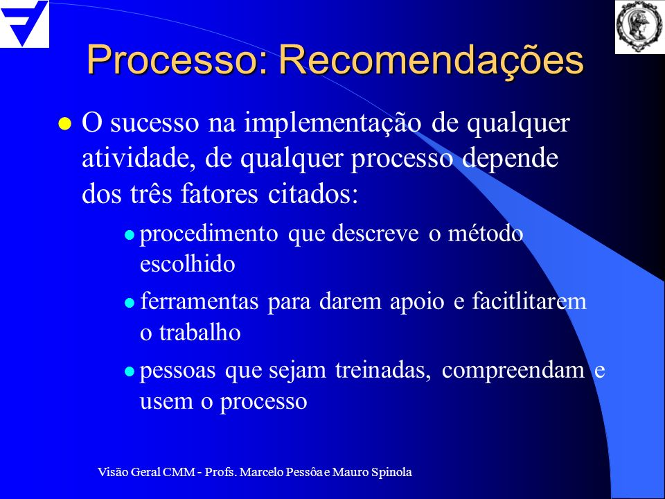 Processo: Recomendações