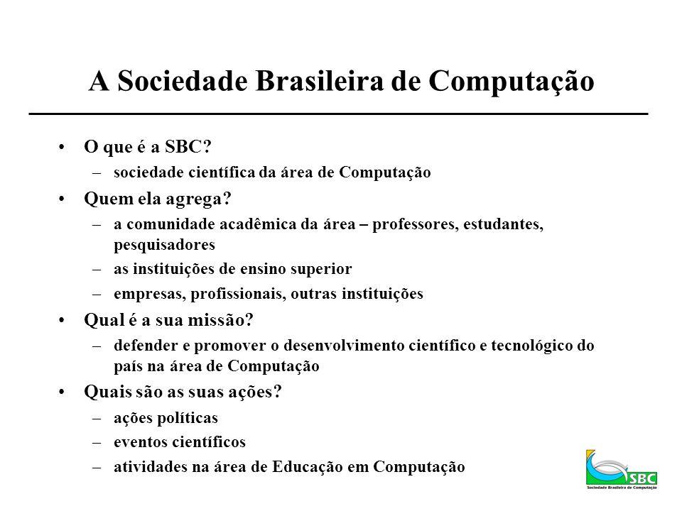 A Sociedade Brasileira de Computação