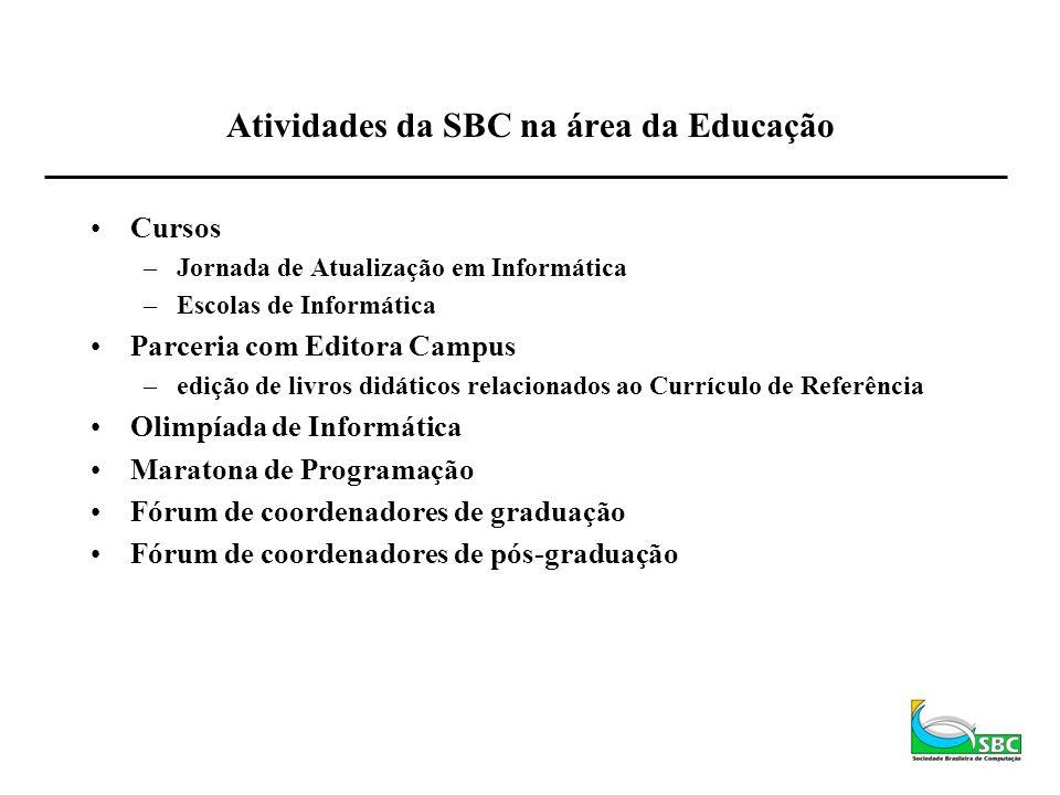 Atividades da SBC na área da Educação