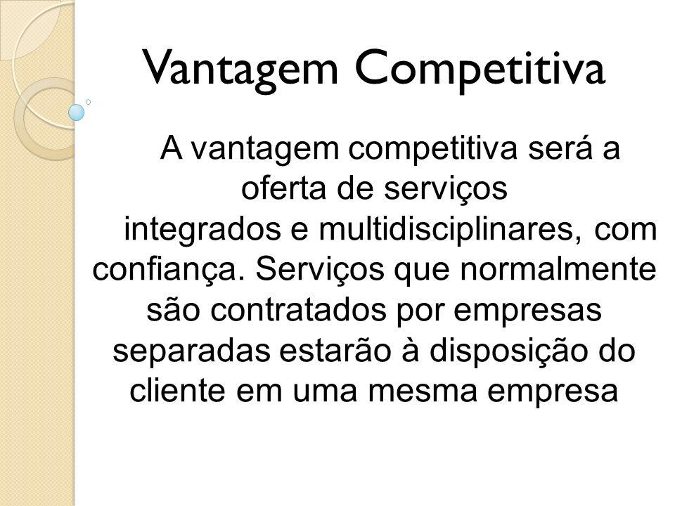 A vantagem competitiva será a oferta de serviços