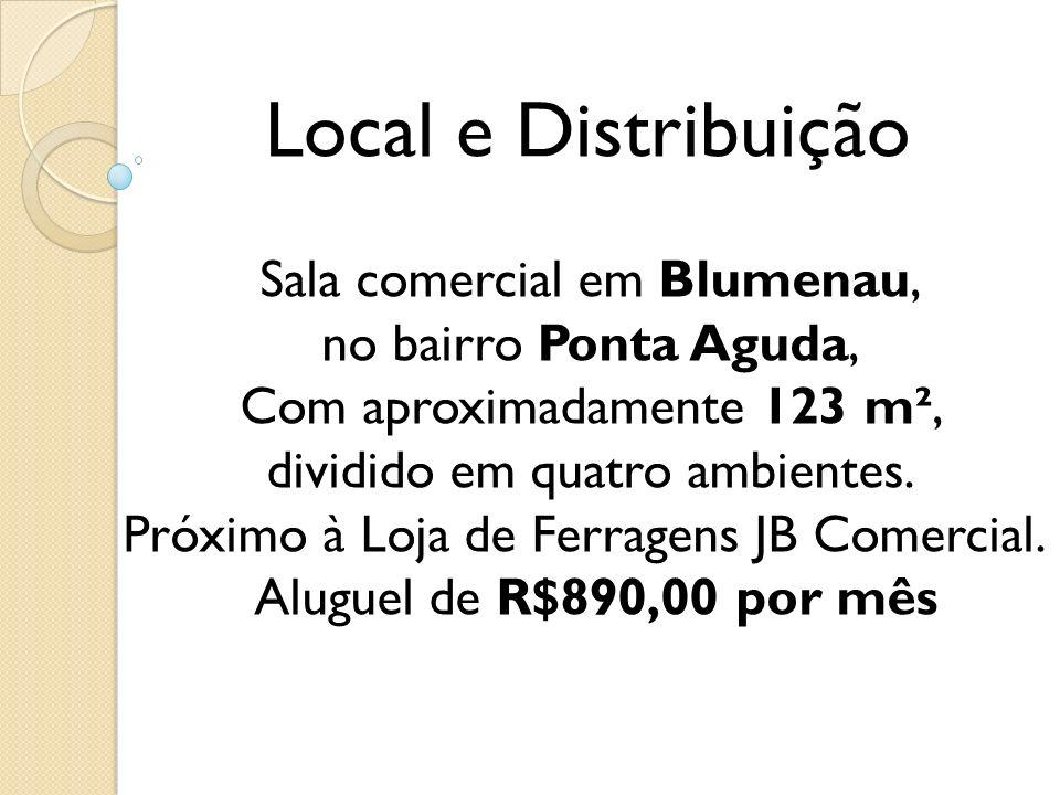 Local e Distribuição Sala comercial em Blumenau,