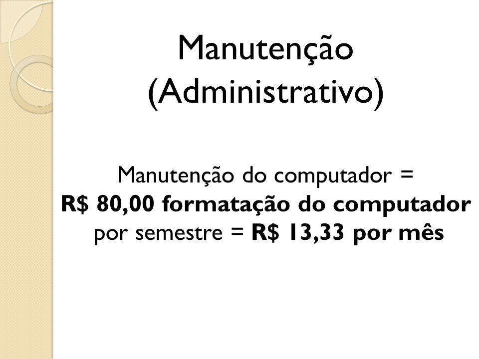 Manutenção (Administrativo)