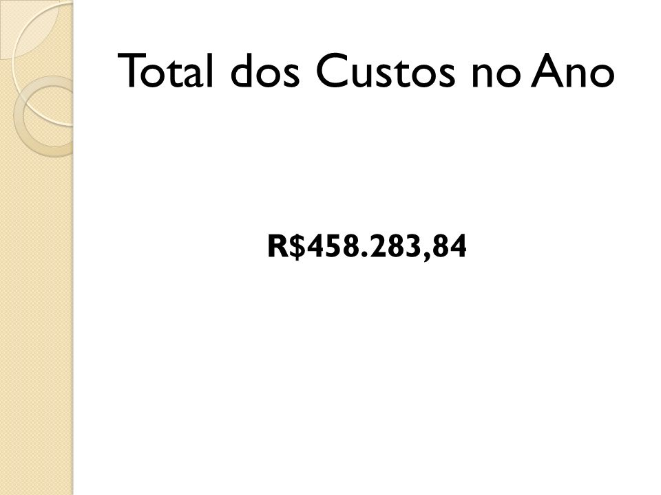 Total dos Custos no Ano R$458.283,84