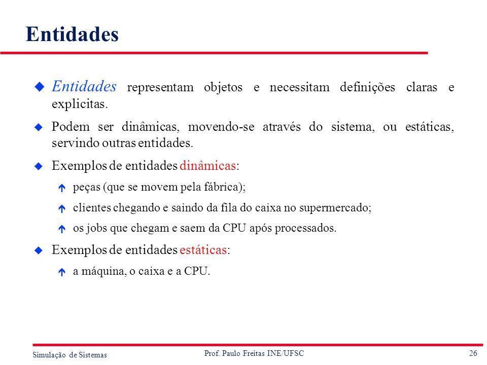 Entidades Entidades representam objetos e necessitam definições claras e explicitas.