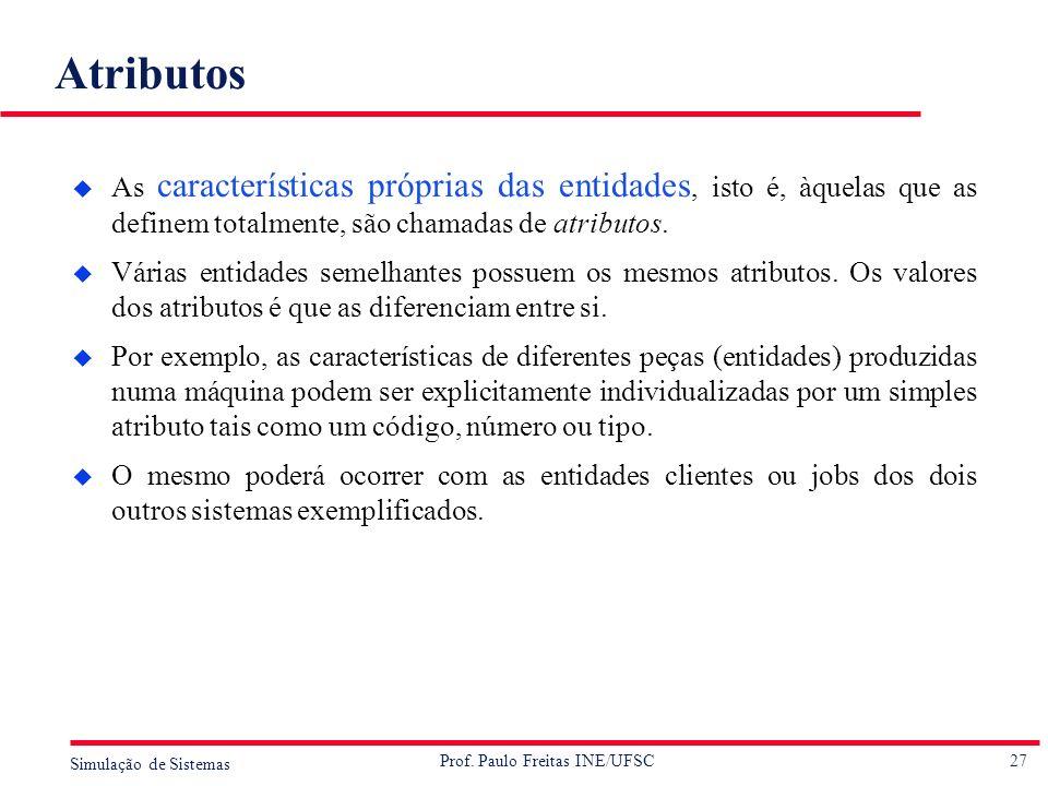 Atributos As características próprias das entidades, isto é, àquelas que as definem totalmente, são chamadas de atributos.