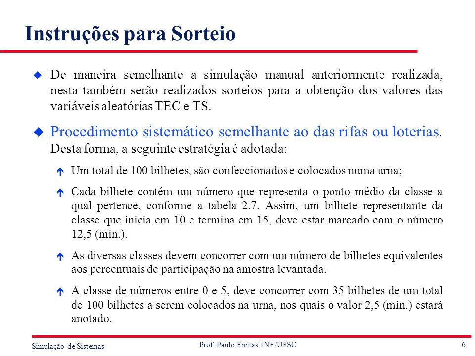 Instruções para Sorteio