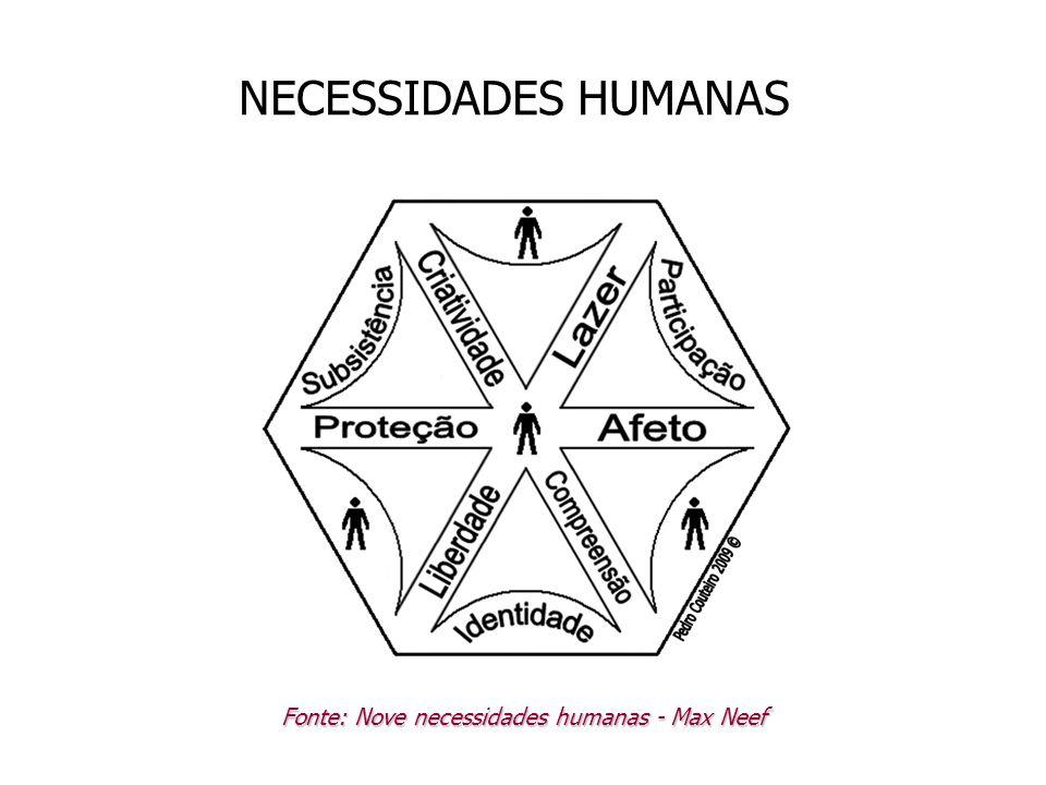 Fonte: Nove necessidades humanas - Max Neef