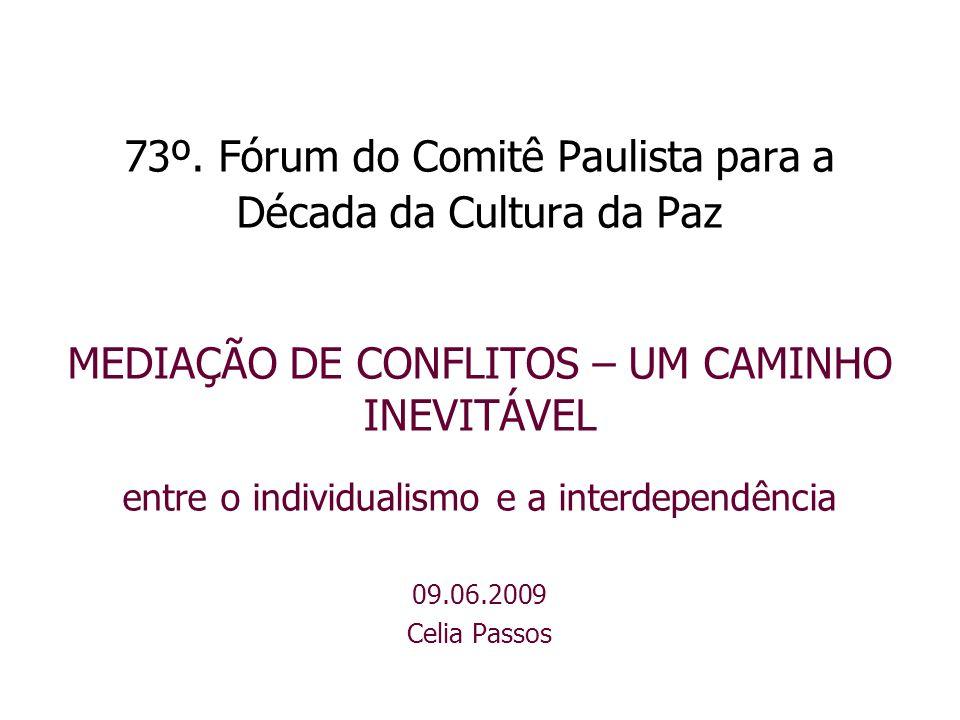 73º. Fórum do Comitê Paulista para a Década da Cultura da Paz