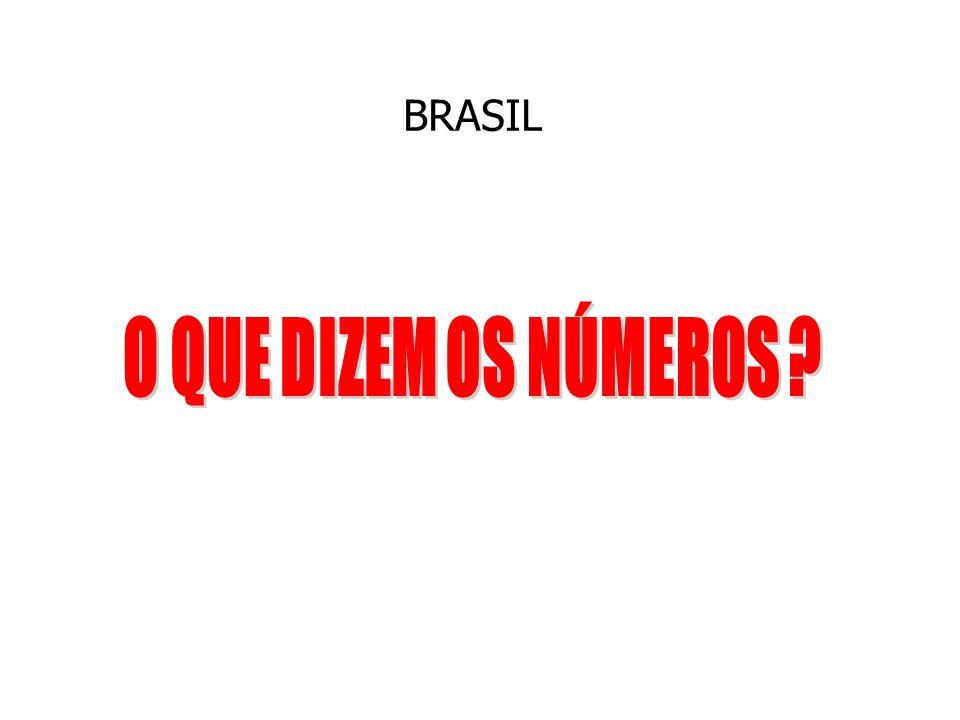 BRASIL O QUE DIZEM OS NÚMEROS