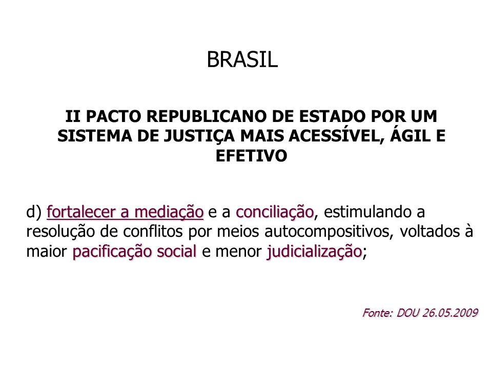 BRASIL II PACTO REPUBLICANO DE ESTADO POR UM SISTEMA DE JUSTIÇA MAIS ACESSÍVEL, ÁGIL E EFETIVO.
