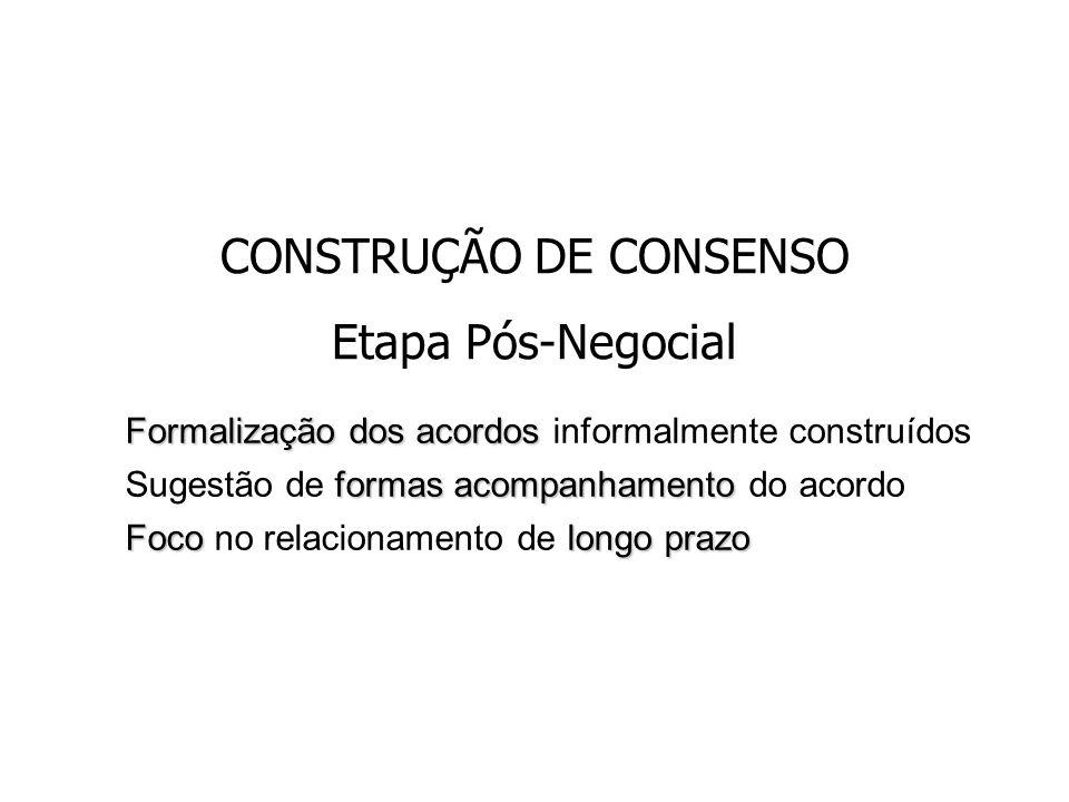 CONSTRUÇÃO DE CONSENSO