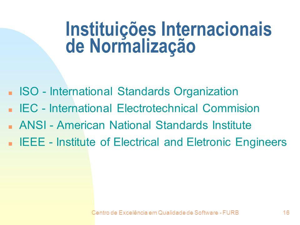 Instituições Internacionais de Normalização